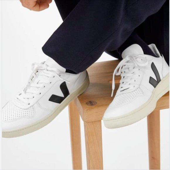 Veja Shoes | V10 Navy Logo Mens Fashion
